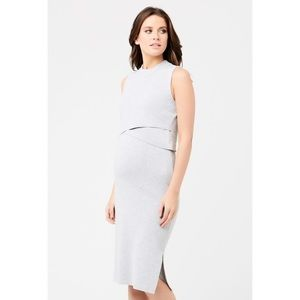 NWT Ripe Layered Knit Nursing Dress